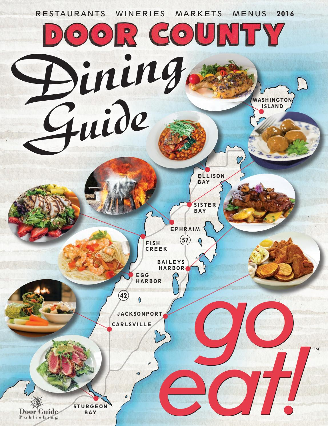 2016 Door County Dining Guide By Door Guide Publishing Issuu