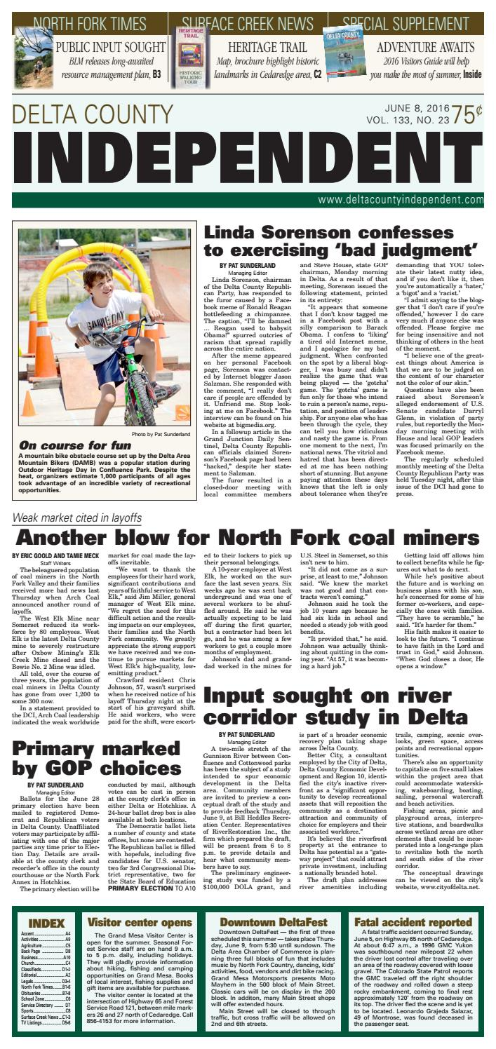 Delta County Independent June 8 2016 By Delta County