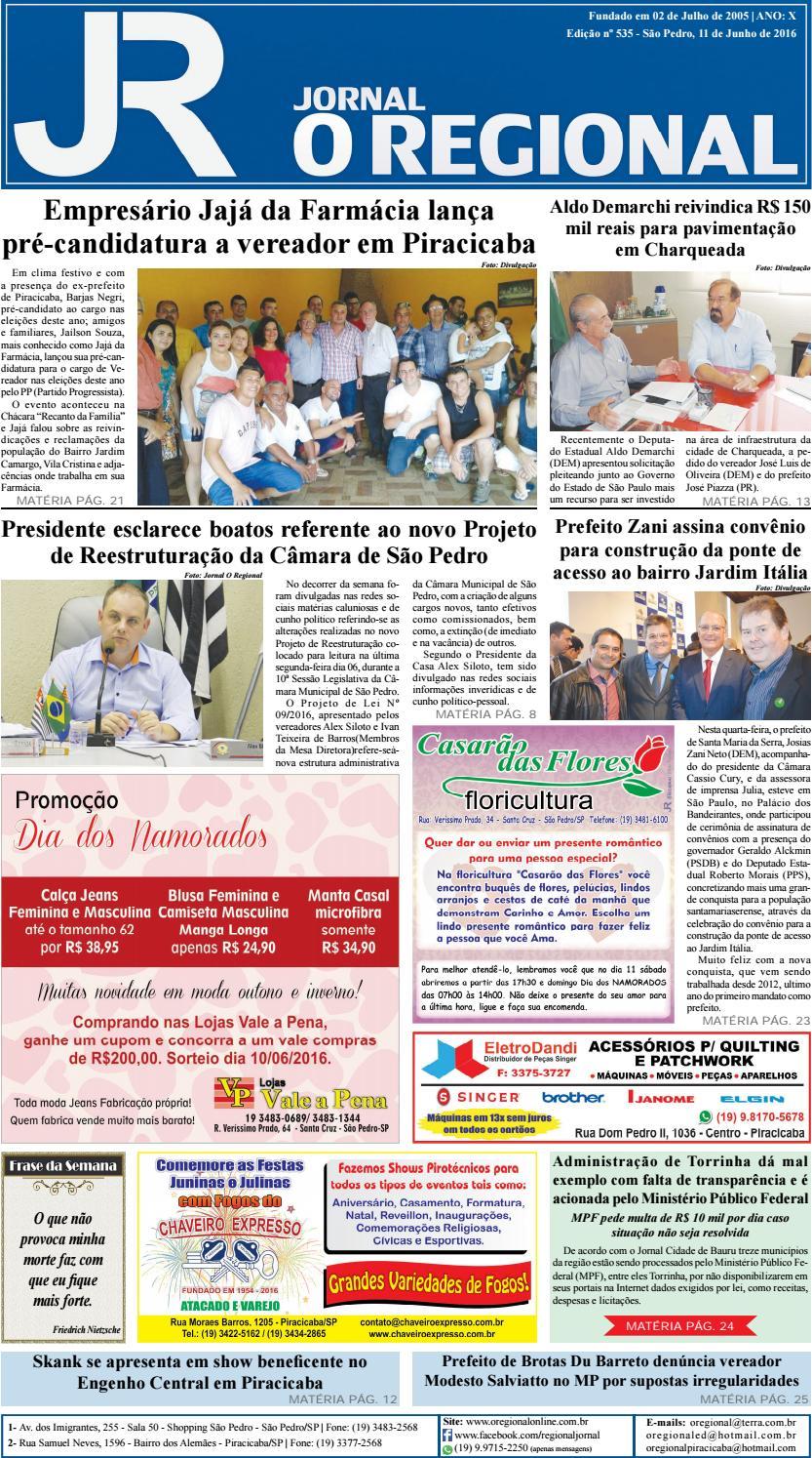 1ea1c59cea952 Jornal o regional edição 535 11 06 2016 site by Jornal O Regional - issuu