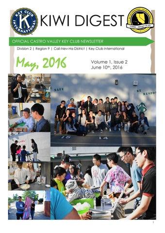 Kiwi Digest: May 2016 by Castro Valley Key Club - issuu