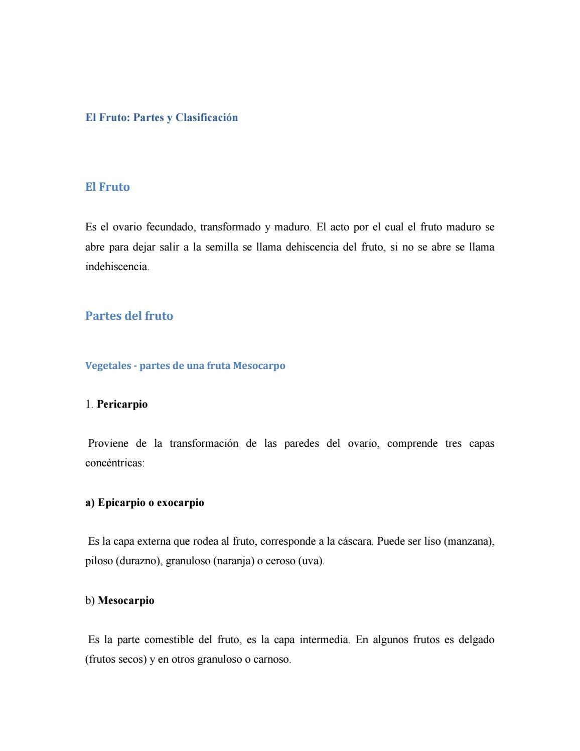 El fruto y sus tipos by José Mosquea - issuu