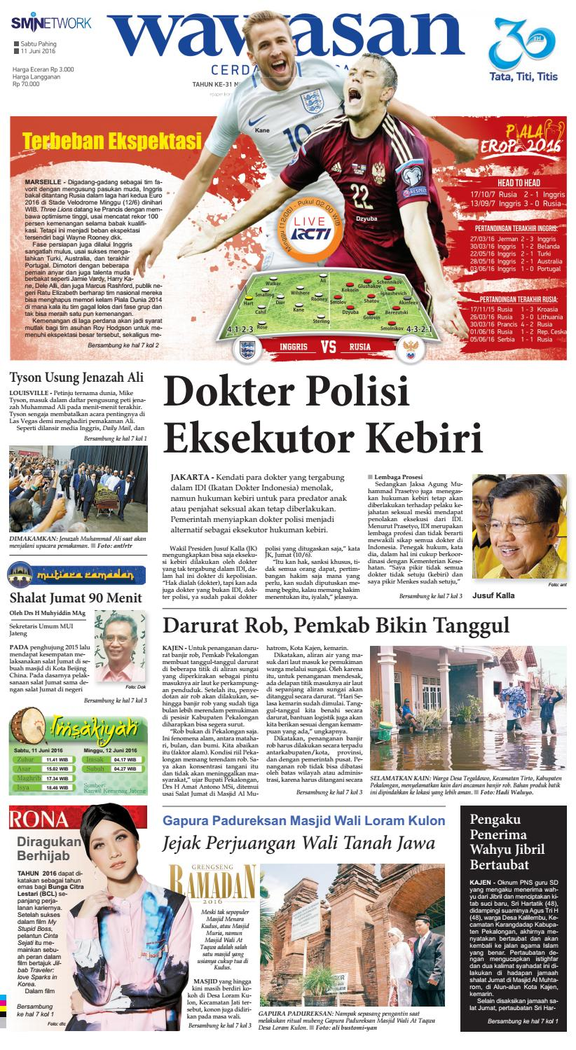 Wawasan 11 Juni 2016 By Koran Pagi Issuu Produk Ukm Bumn Batik Tulis Babon Angrem