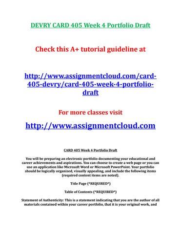 card 405 week 4 portfolio draft Synthetic & bio-based butadiene market home essay synthetic & bio-based butadiene market – global industry analysis 2015 devry card 405 week 4 portfolio draft.