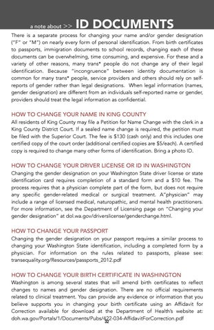 2014 KING COUNTY TRANS* RESOURCE & REFERRAL GUIDE - a community ...