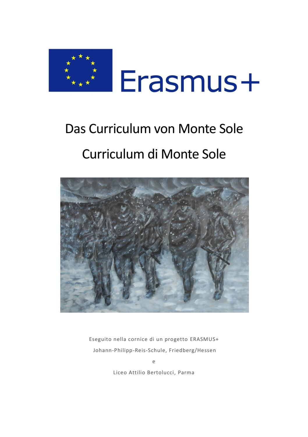Curriculum Monte Sole Italian Version By Liceo Attilio Bertolucci