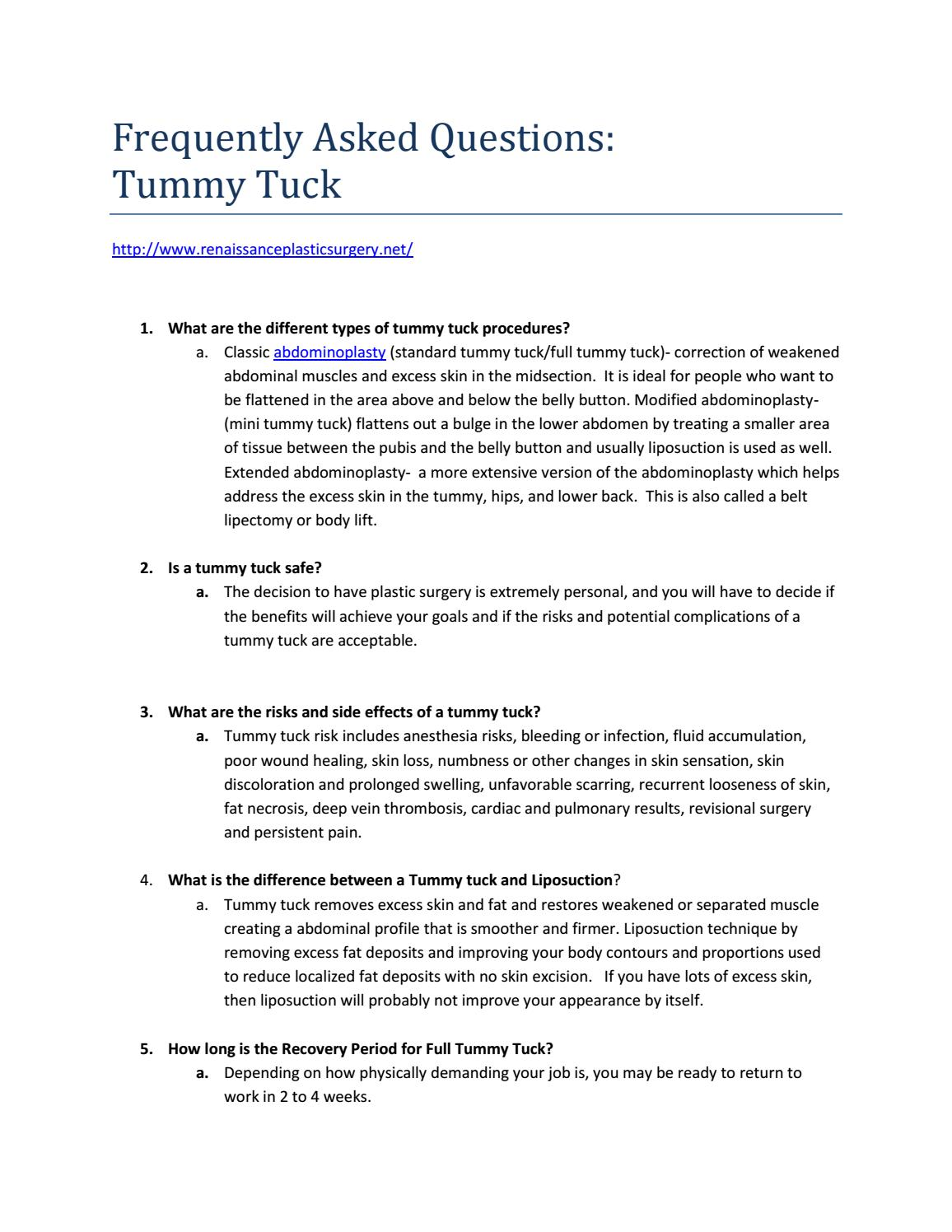 What is a Tummy Tuck and more! by Todd Brent - issuu