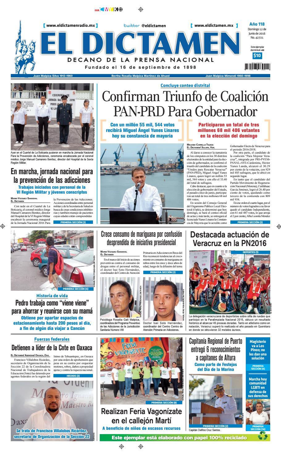 El Dictamen a 12 de junio de 2016 by El Dictamen - issuu