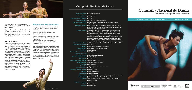 Ana Duato Piernas 2016, february 26, alcobendas, cnd programcompañía