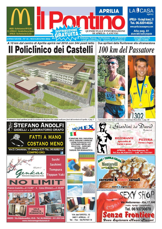 size 40 fed73 7a8ca Il Pontino Aprilia - Anno XXVII - N. 11 - 9 23 Giugno 2016 by Il Pontino Il  Litorale - issuu