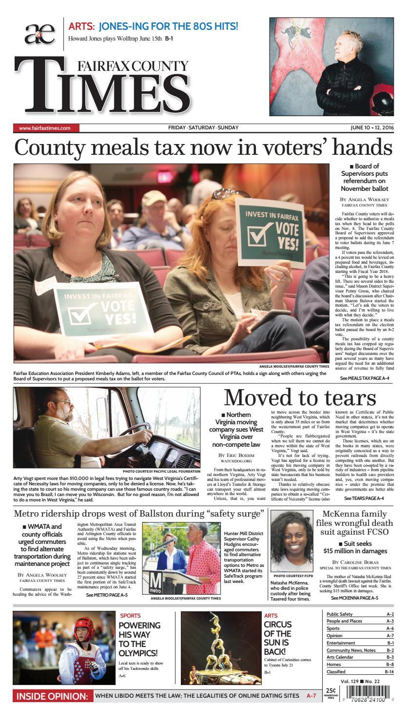 Fairfax County Times 06.10.16 by The Fairfax Times - Issuu