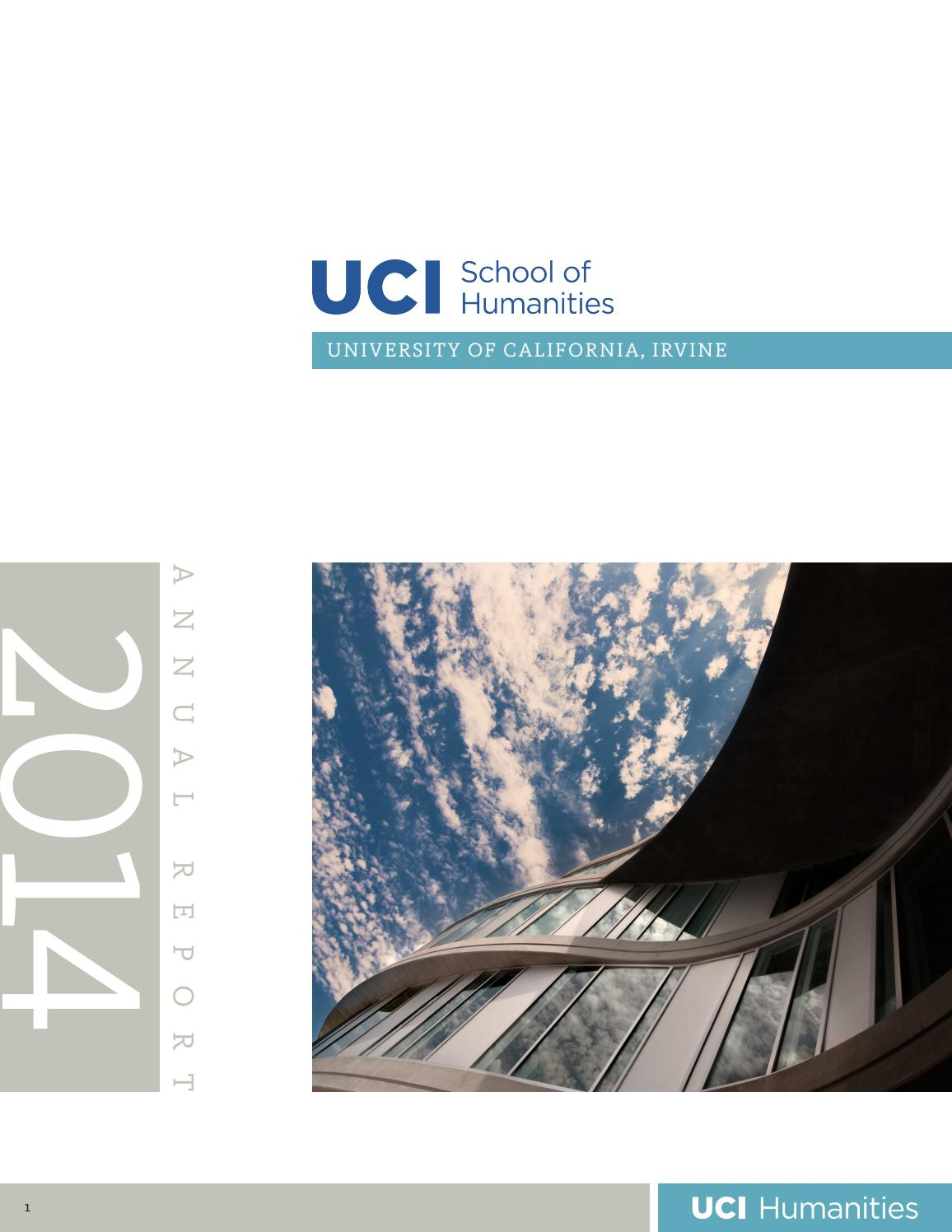 School Of Humanities 2014 Annual Report By Uci Humanities Issuu