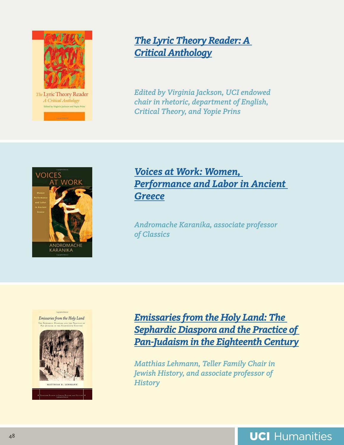 The Lyric Theory Reader A Critical Anthology