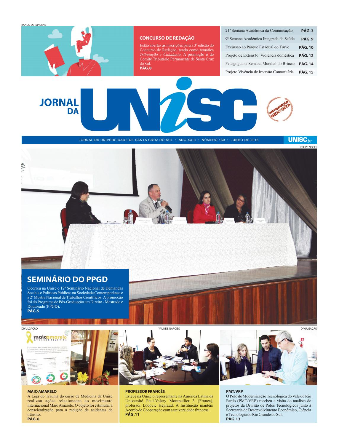 349e13bc16225 Jornal da Unisc 160 by UNISC Santa Cruz do Sul - issuu