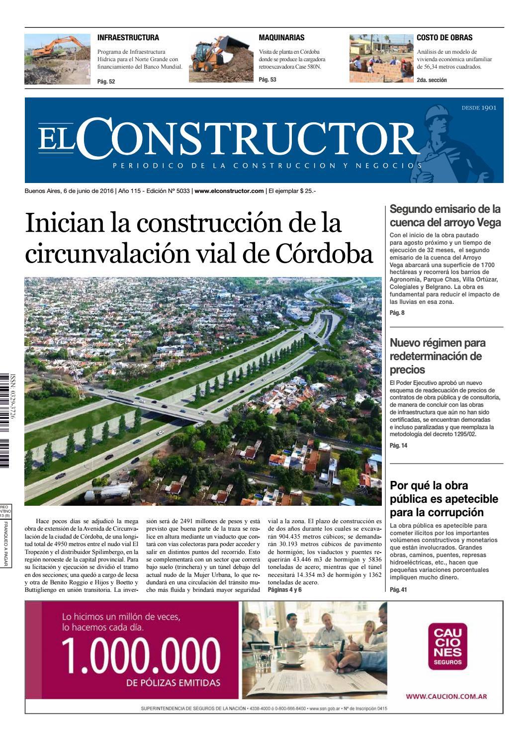 El Constructor 06/06/2016 - N° 5033 Año 115 by ELCO Editores - issuu