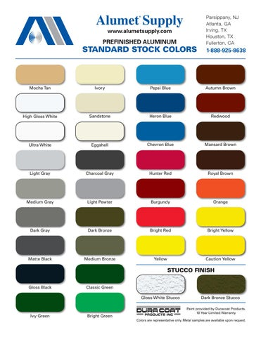 Alumet Supply Color Chart By Alice Buchman Creative Design
