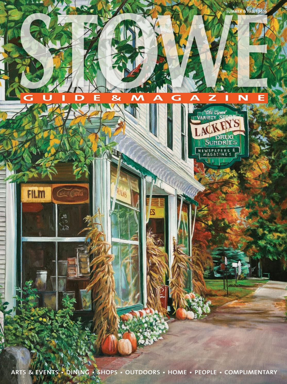 13537fa81f3a0c Stowe Guide & Magazine Summer / Fall 2016 by Stowe Guide & Magazine ...