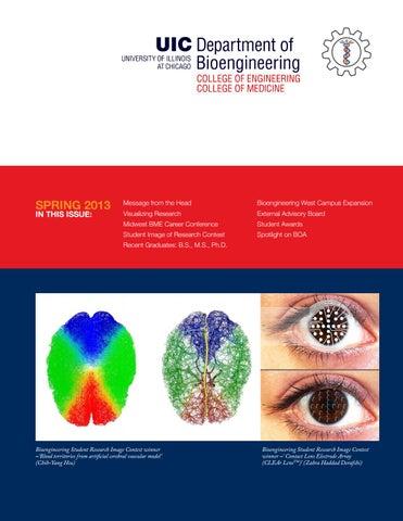 UIC Bioengineering Spring 2013 Newsletter by UIC College of