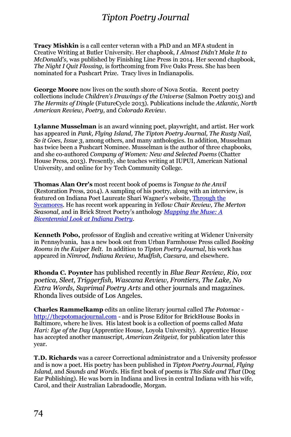 Tipton Poetry Journal #30 By Tipton Poetry Journal   Issuu