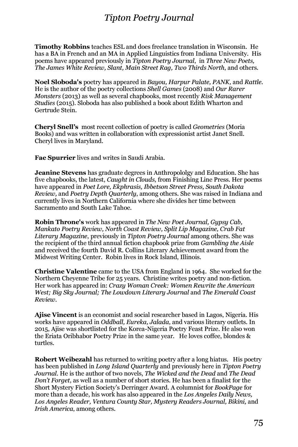 Tipton Poetry Journal #30 by Tipton Poetry Journal - issuu