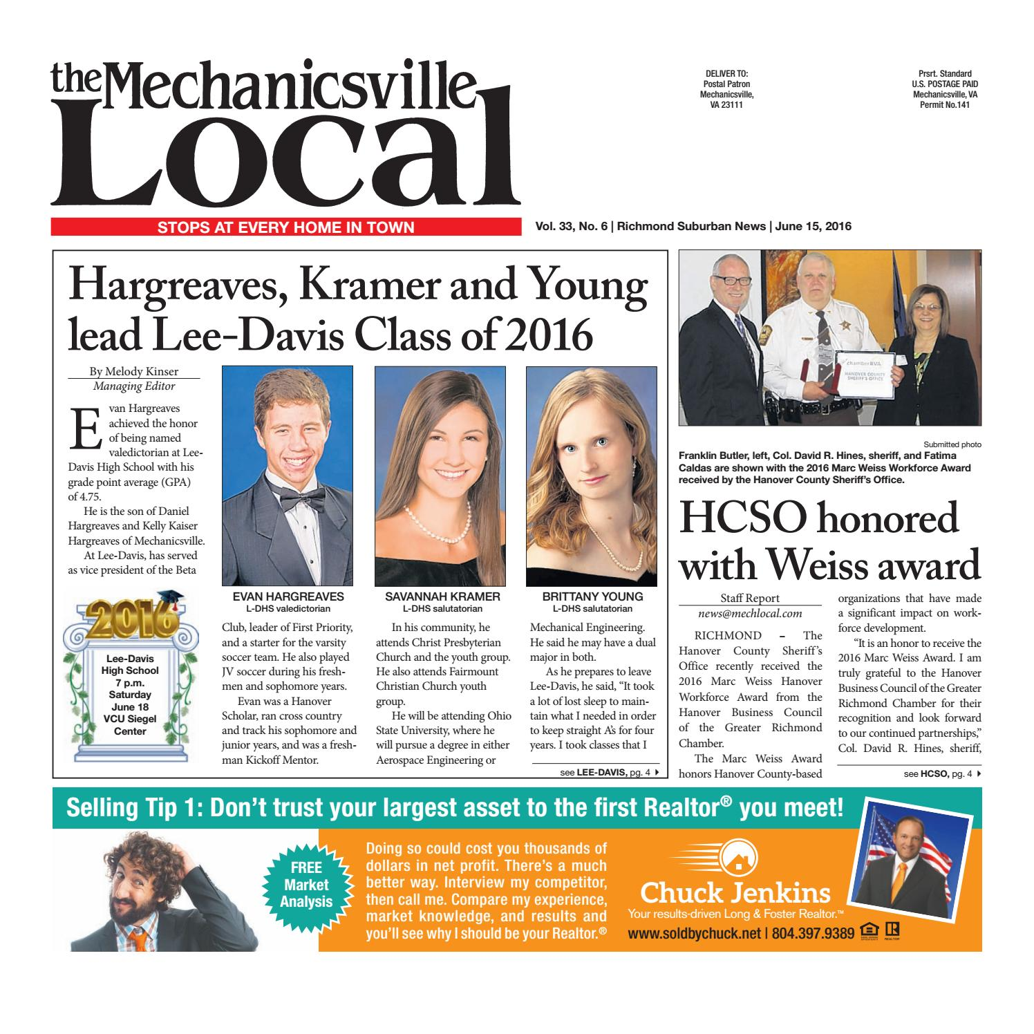 00005c0d03fc 6 15 2016 by The Mechanicsville Local - issuu