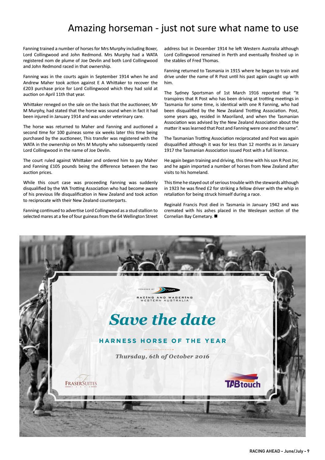 Racing Ahead WA - June/July 2016 by RWWA - issuu