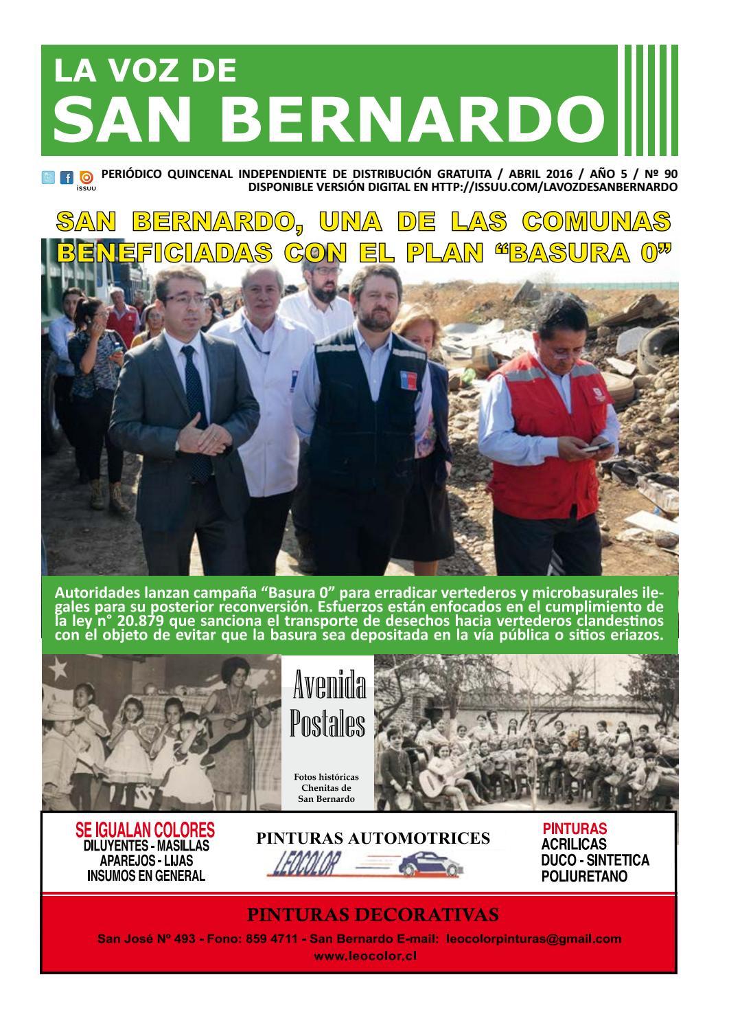 LA VOZ DE SAN BERNARDO - EDICIÓN 90 by Periódico La Voz de San ...