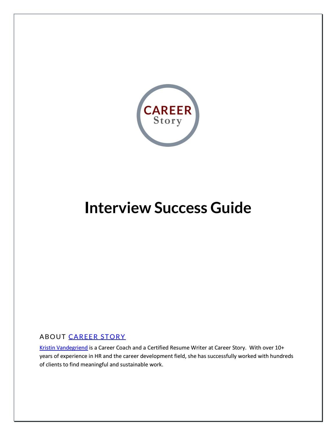 interview resources and tips career story career story interview success guid 8 months ago careerstory