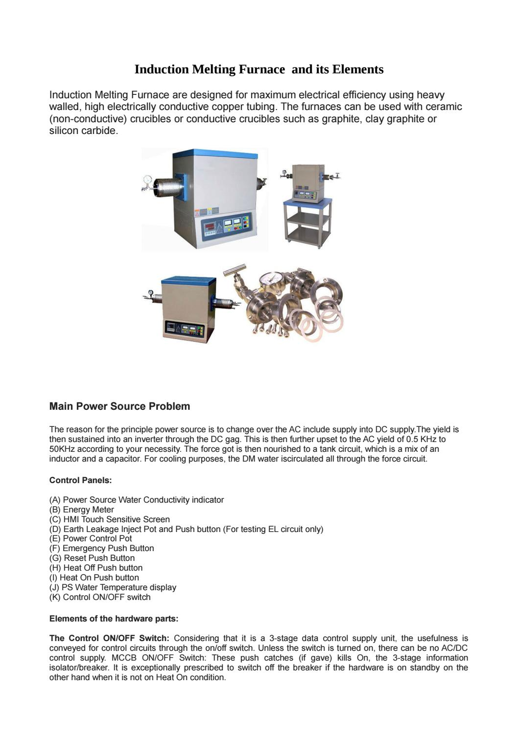 Stead fast induction melting furnace by Stead Fast Engineers