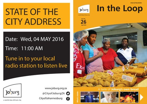 April 26th edition of the in the loop by city of johannesburg joburg page 1 malvernweather Gallery
