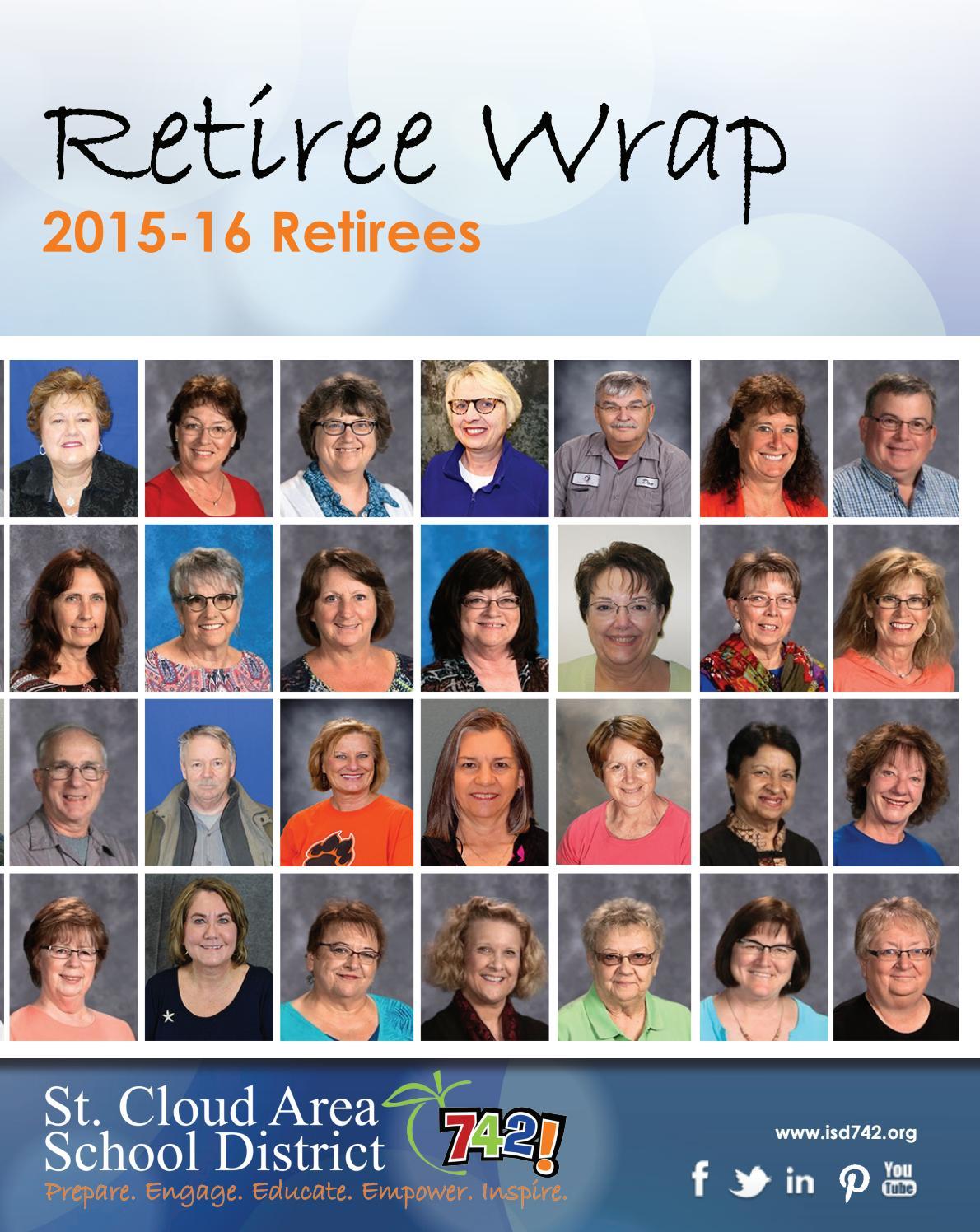 Retiree Wrap 2015 16 By St Cloud Area School District 742 Issuu