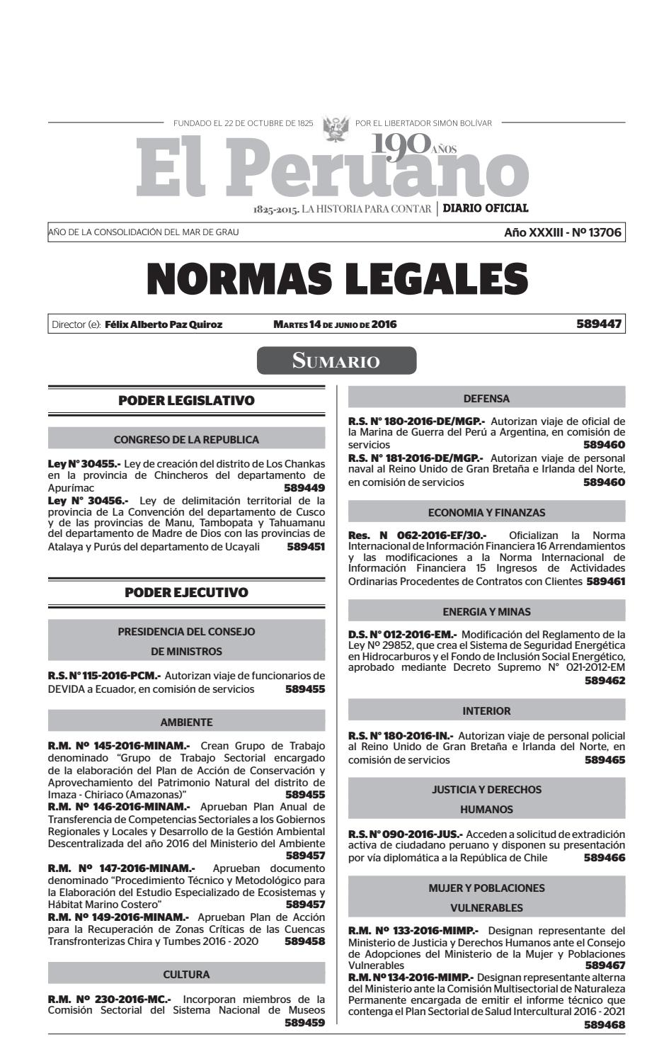 Normas Legales 14 06 2016 by Gaceta Juridica - issuu