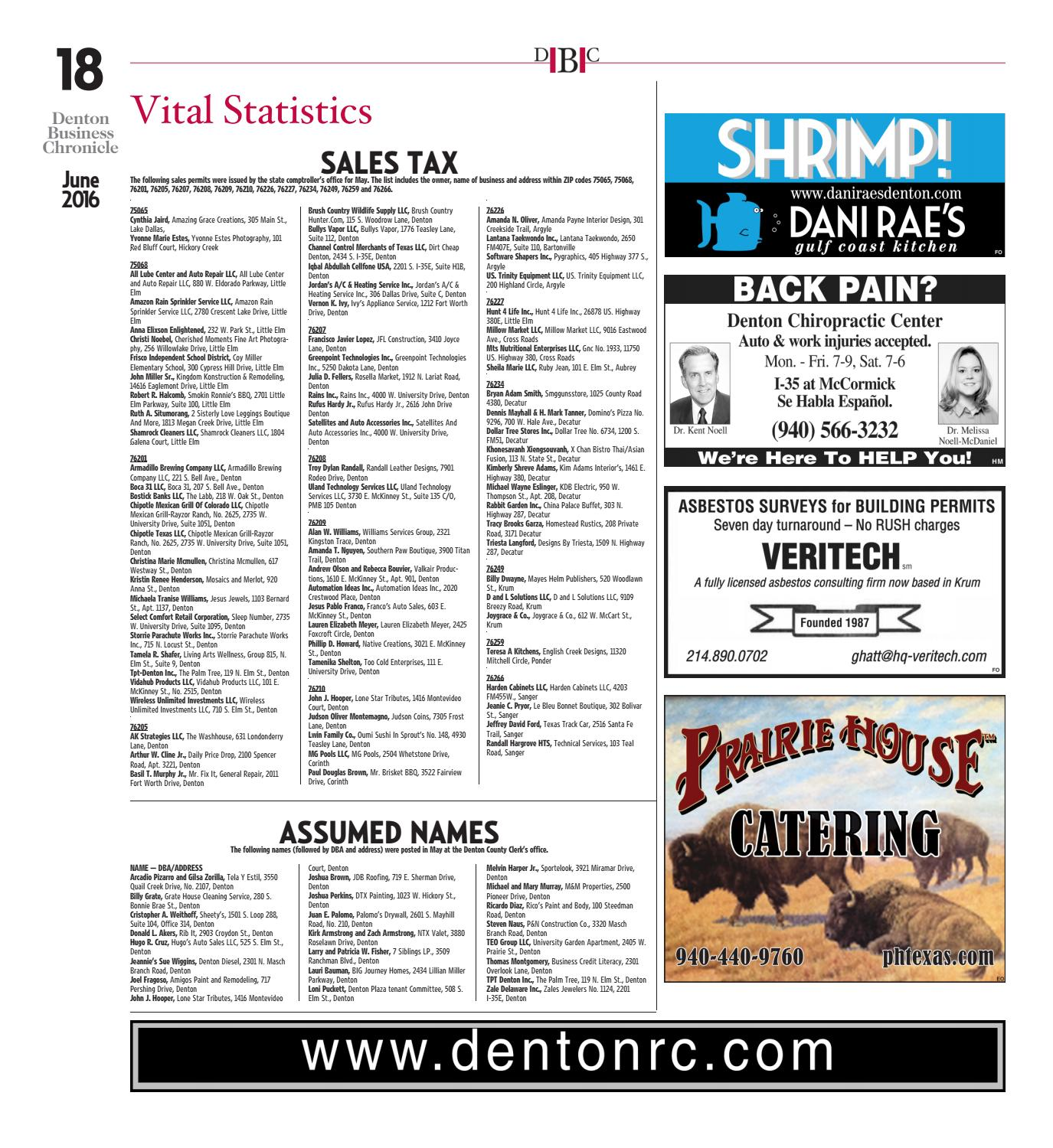 June Denton Business Chronicle 2016 by Larry McBride - issuu