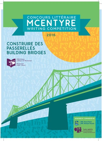 Concours Litteraire Mcentyre Writing Competition By Bibliowestmount
