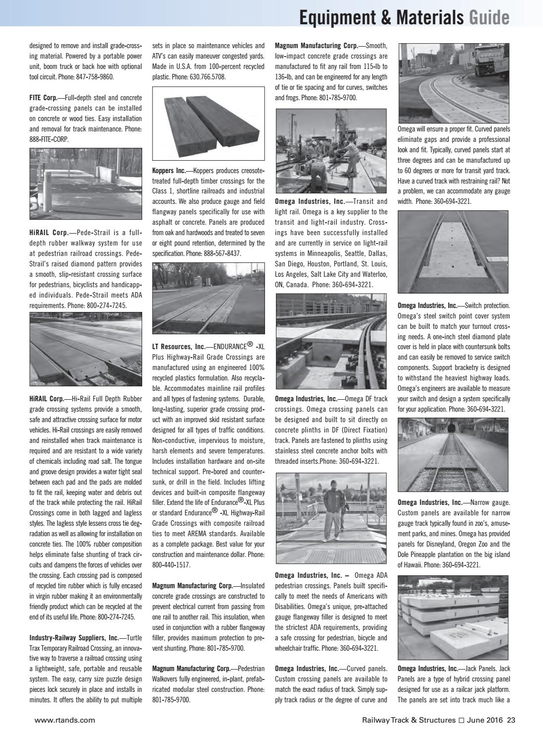 RT&S June 2016 by Railway Track & Structures - issuu