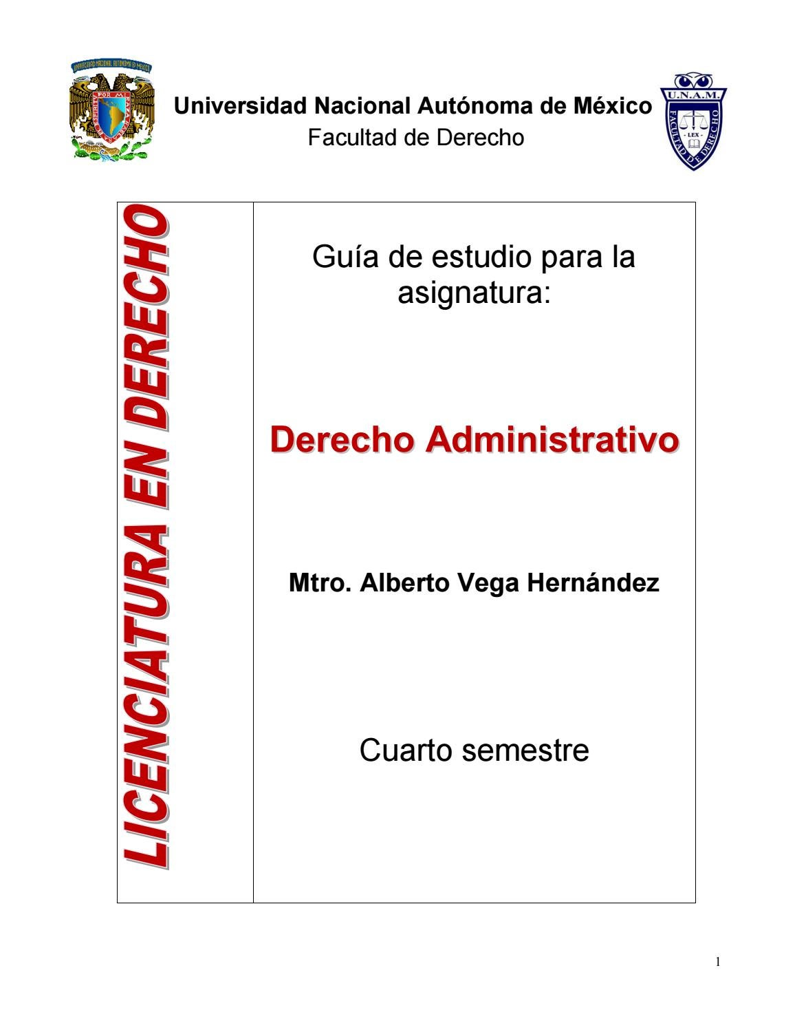 Derecho administrativo by Alberto Vega Hernández - issuu