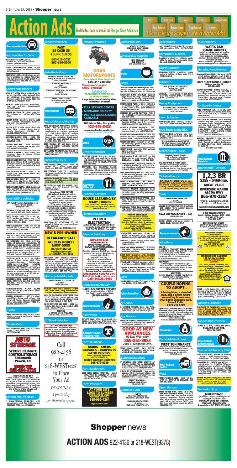 Karns/Hardin Valley Shopper-News 061516 by Shopper-News ...