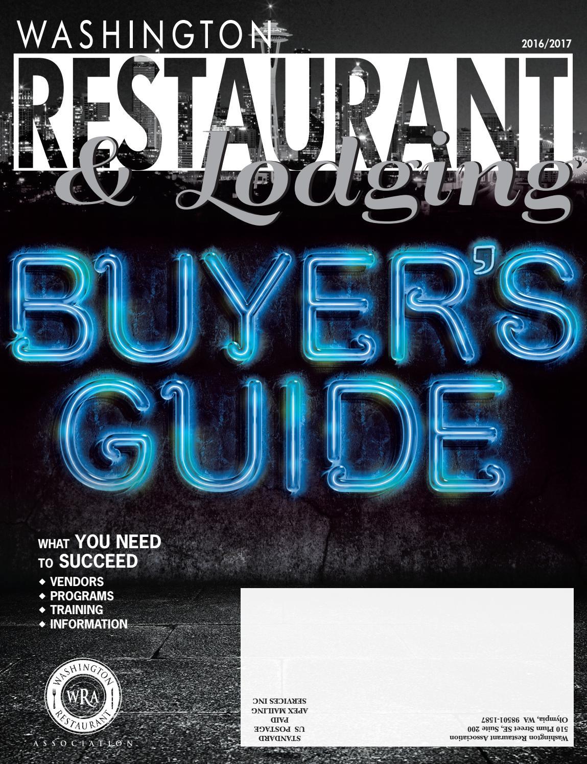 Washington Restaurant & Lodging Magazine Buyer's Guide by