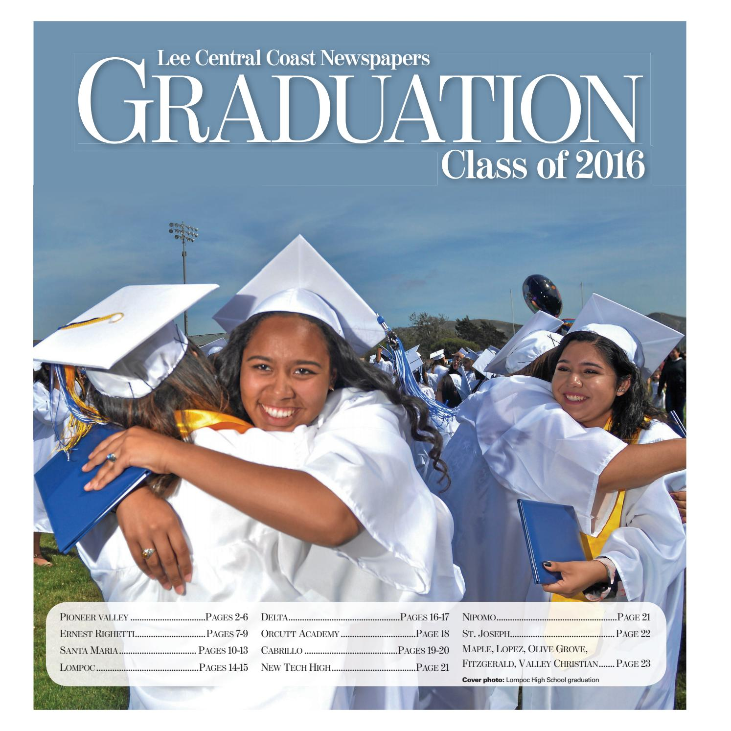 Graduation Class Of 2016 By Lee Central Coast Newspapers Issuu