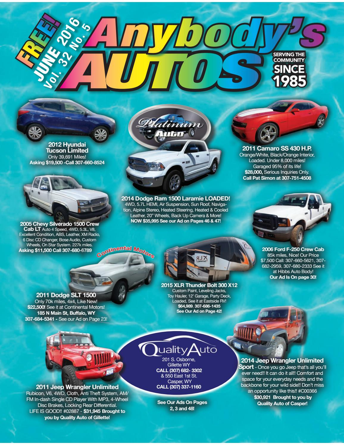Anybodys Autos June 2016 By Issuu Dodge Ram 2005 Silver 1500 Hemi
