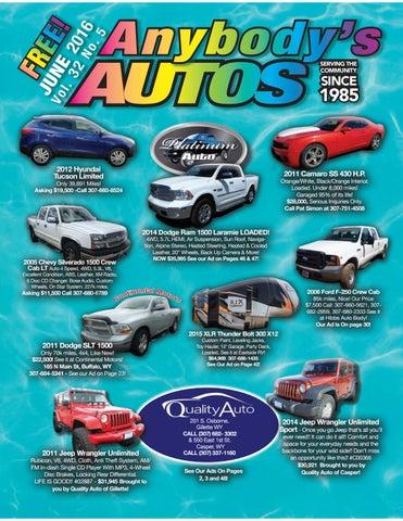 Anybody's Autos June 2016
