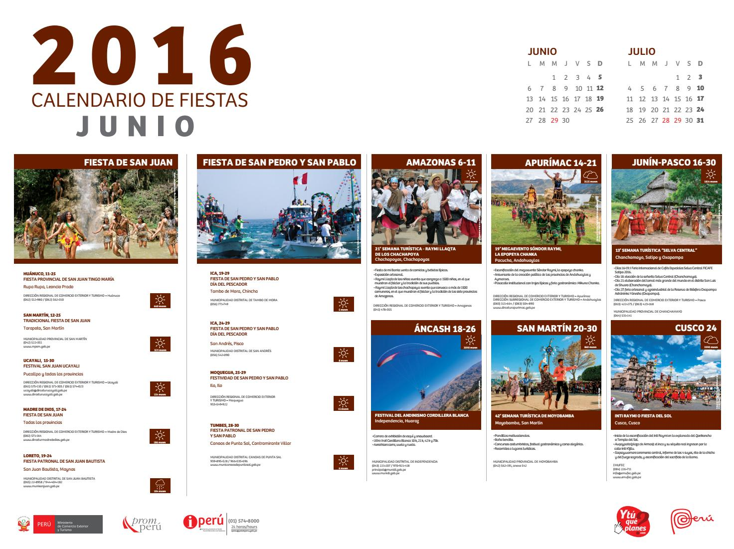 Junio 2016 calendario de eventos junio 2016 calendario de for Calendario junio 2016 para imprimir