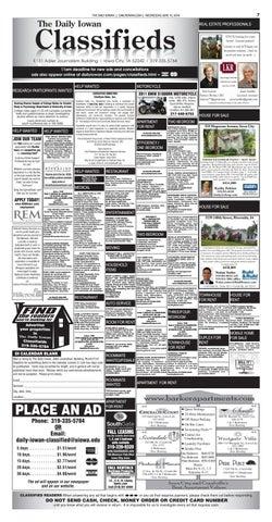 The Daily Iowan - 06/15/16 Classifieds by The Daily Iowan - issuu