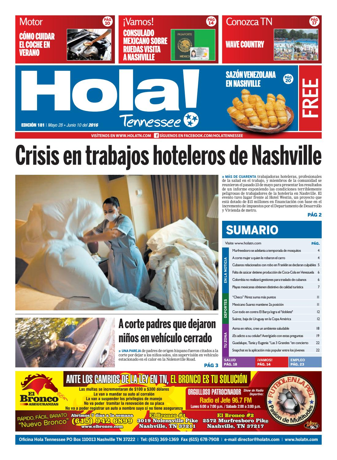 Hola TN - Ed. 181 by Hola Tennessee Newspaper - issuu
