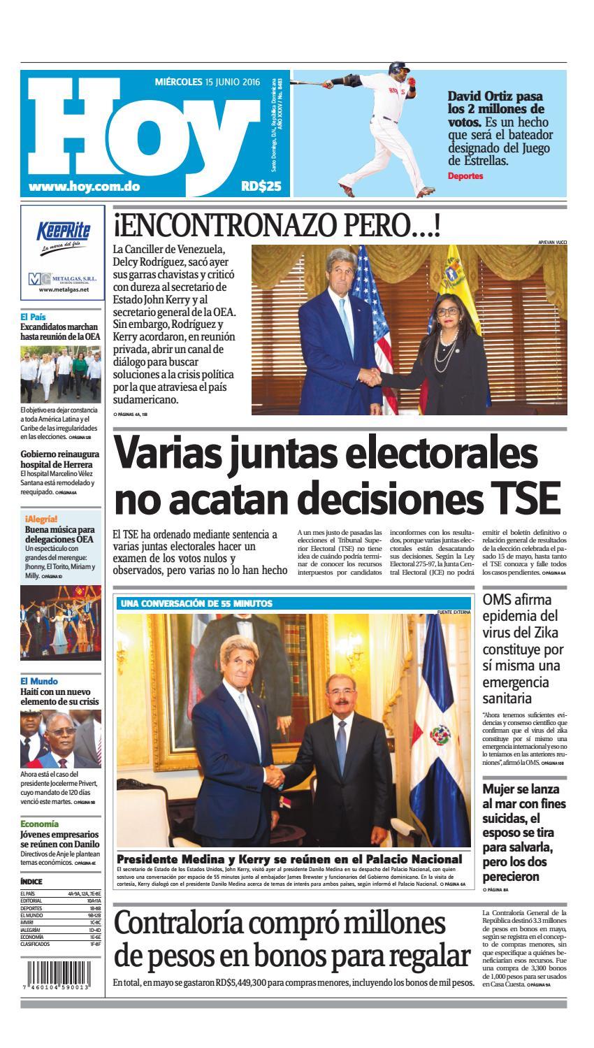 Periódico 15 de junio, 2016 by Periodico Hoy - issuu