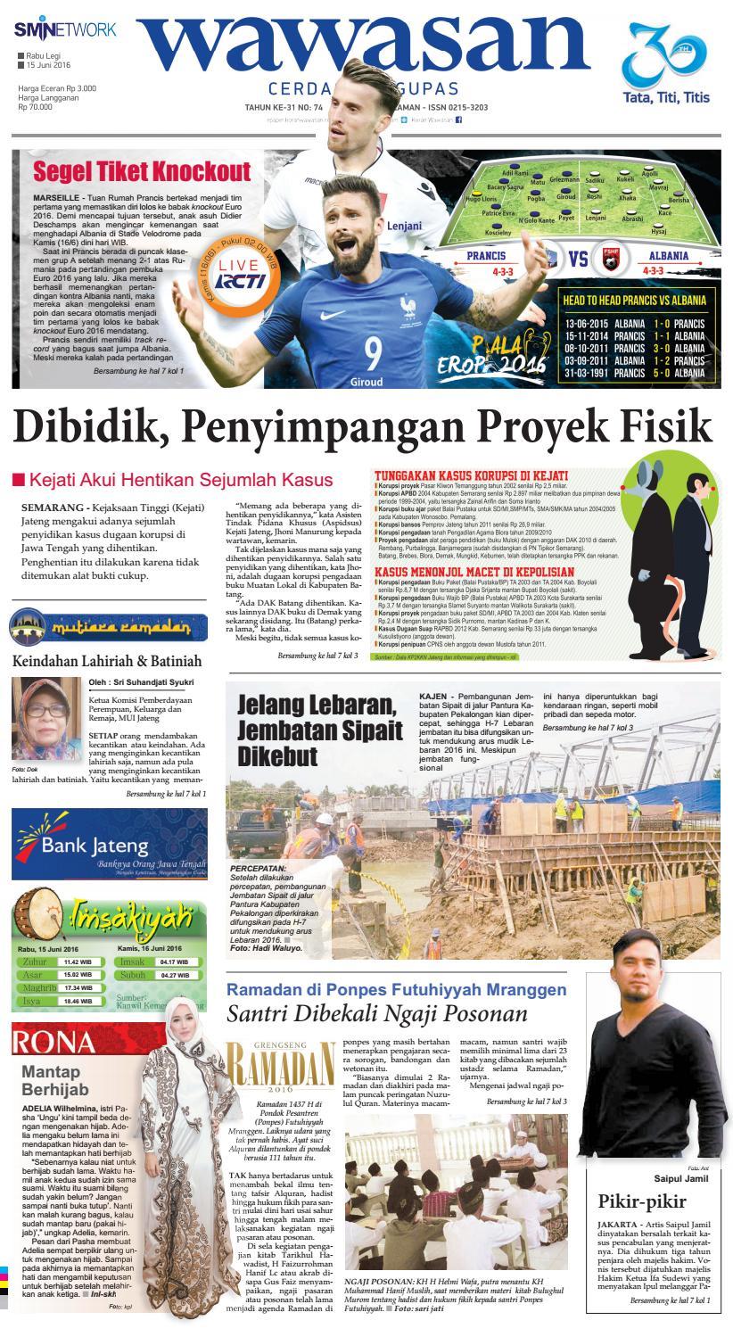 Wawasan 15 Juni 2016 By Koran Pagi Issuu Produk Ukm Bumn Sajadah Anak Laki