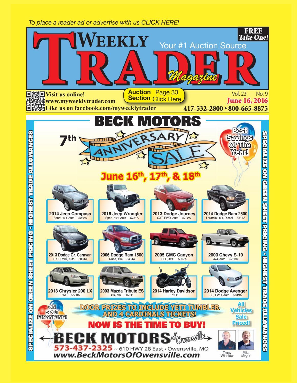 Weekly trader june 16 2016 by weekly trader issuu fandeluxe Gallery