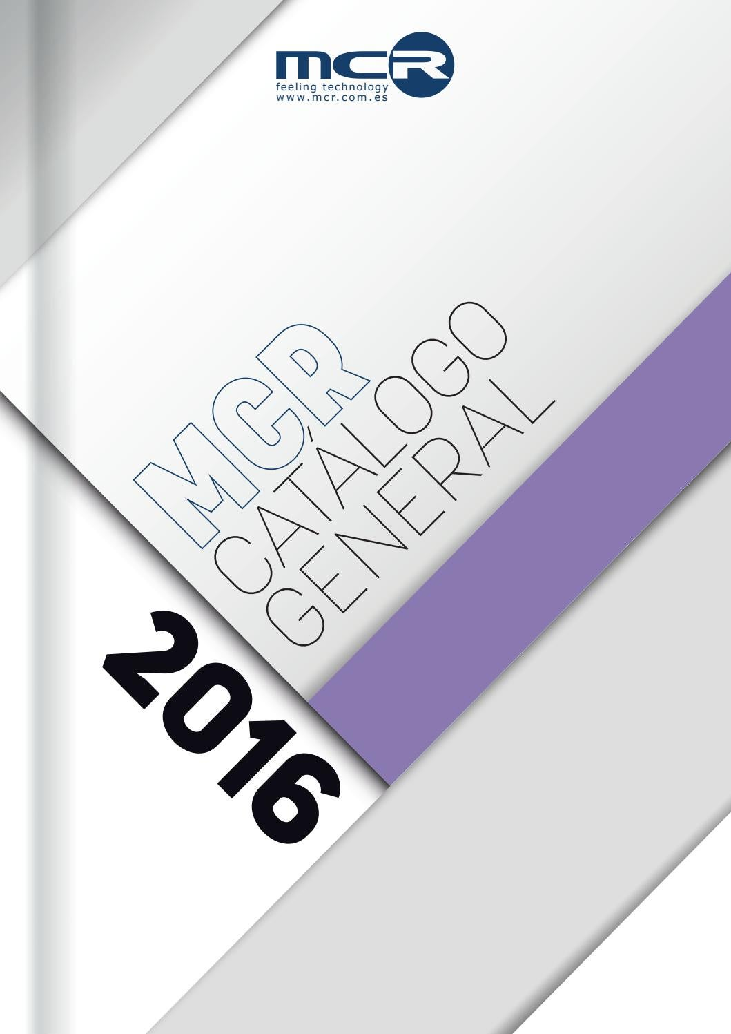 Mcr Catalogo General 2016 By Mcr Infoelectronic Issuu