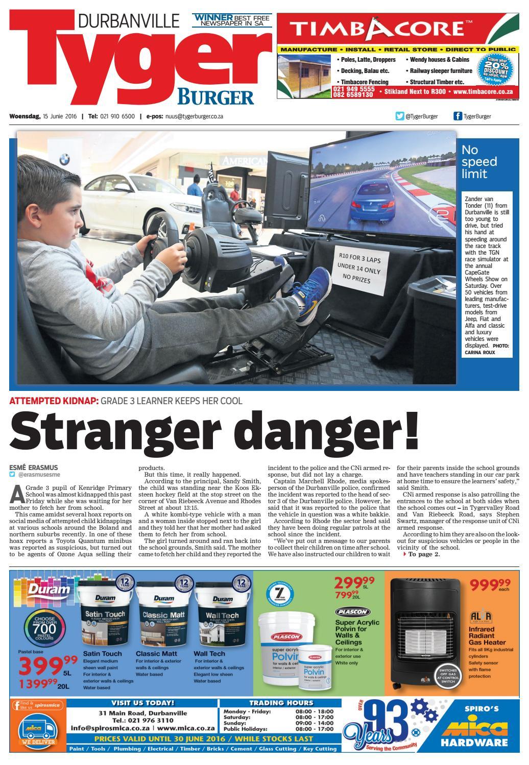 TygerBurger Durbanville 20160615 by Tygerburger Newspaper