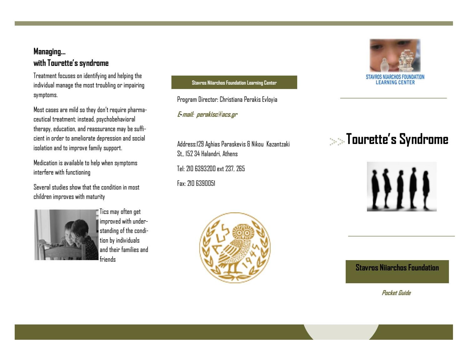 tourette's syndrome brochure by acs athens - issuu