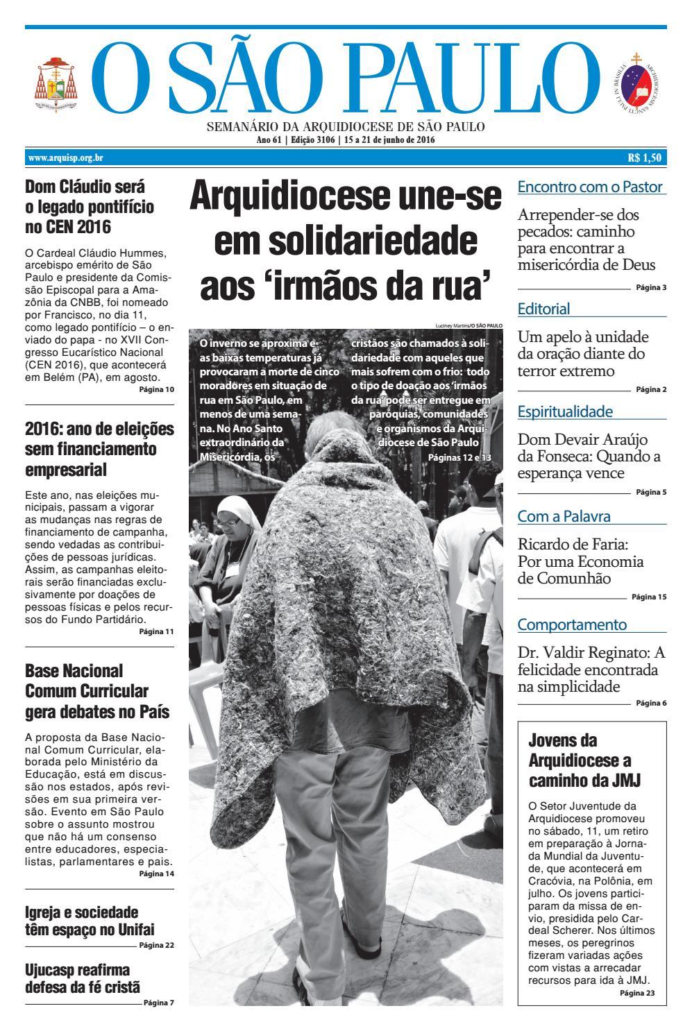 O SÃO PAULO - 3106 by jornal O SAO PAULO - issuu 34ca05998678c